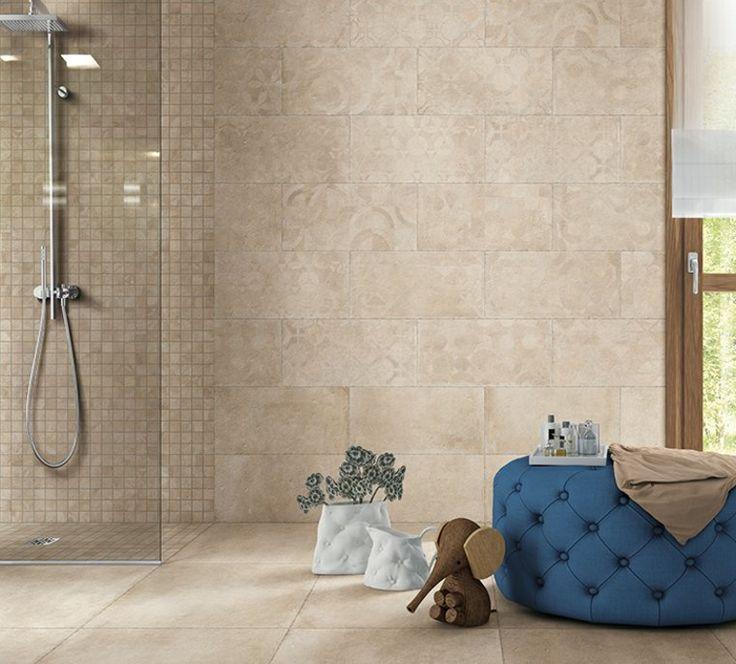 21 best SDB carrelages images on Pinterest Space, At home and Colors - carrelage en pierre naturelle salle de bain