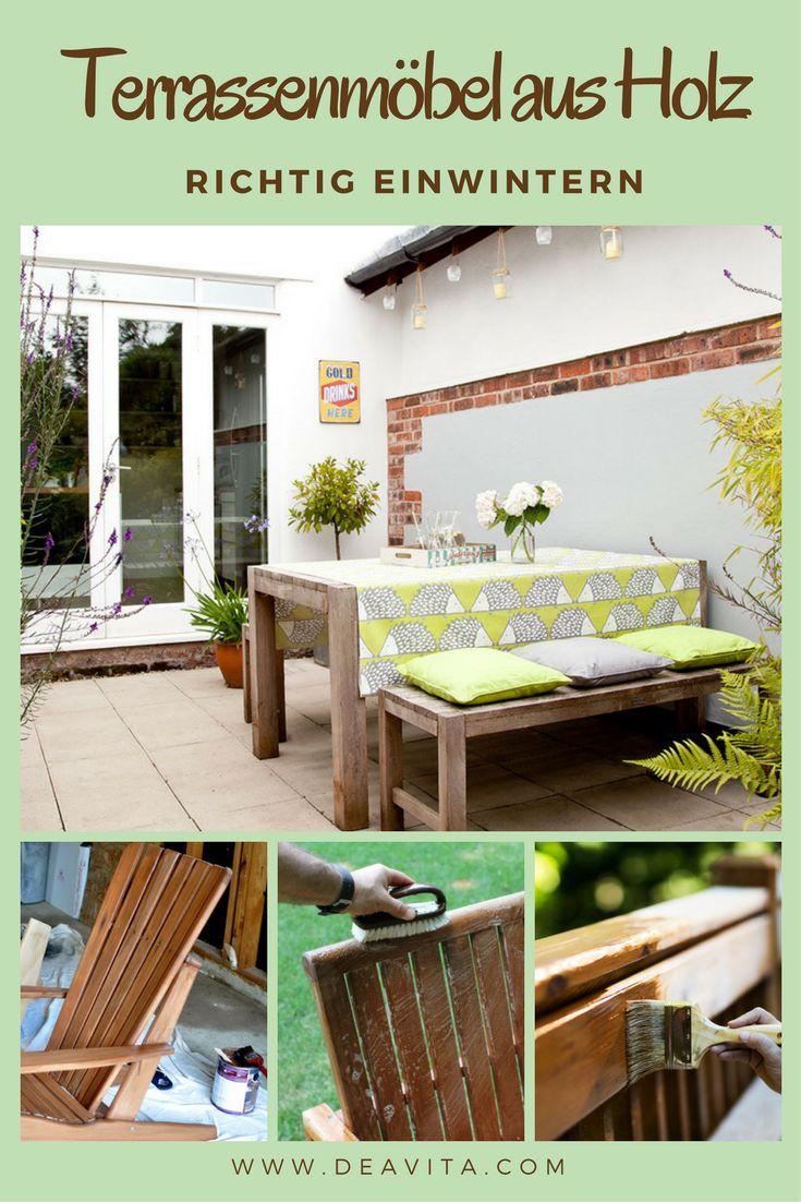 Was Muss Man Zum Einwintern Der Terrassenmöbel Aus Holz Machen? Wie Reinigt  Und Pflegt Man