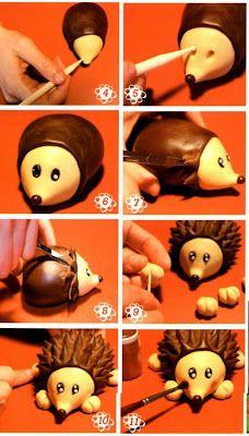 step by step... - Fimo, Cernit et accessoires : http://www.creactivites.com/236-pate-polymere