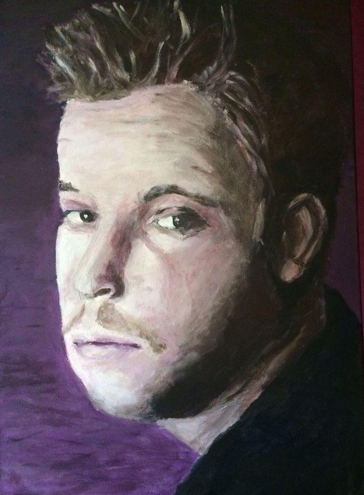 Lars Acryl op doek. 50x70 cm