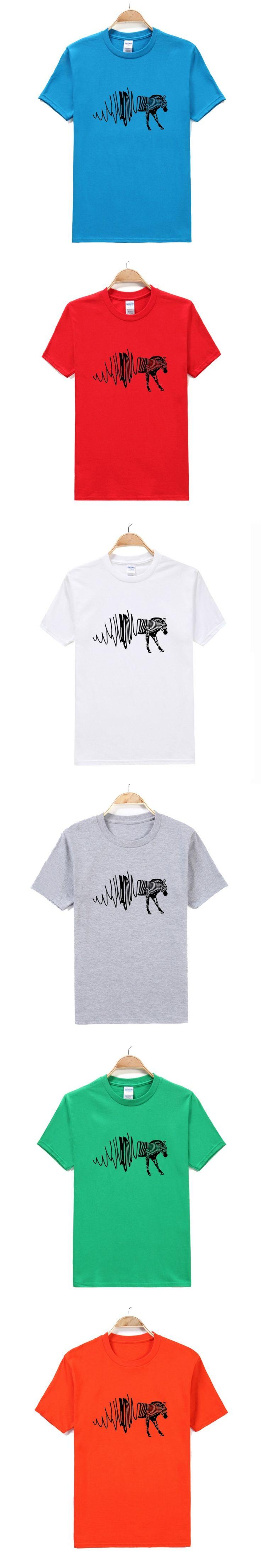 Blasting creative models zebra male short-sleeved T-shirt