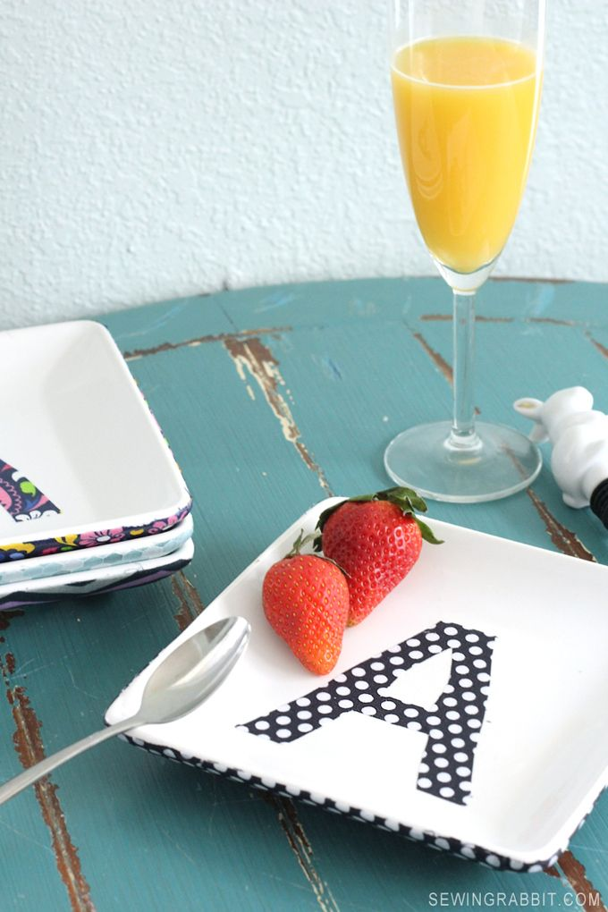 craft ideas homemade bridal shower decoration%0A Cover your favorite platters with fabric using dishwasher safe mod podge   An easy craft  Dishwasher Safe Fabric Platter DIY