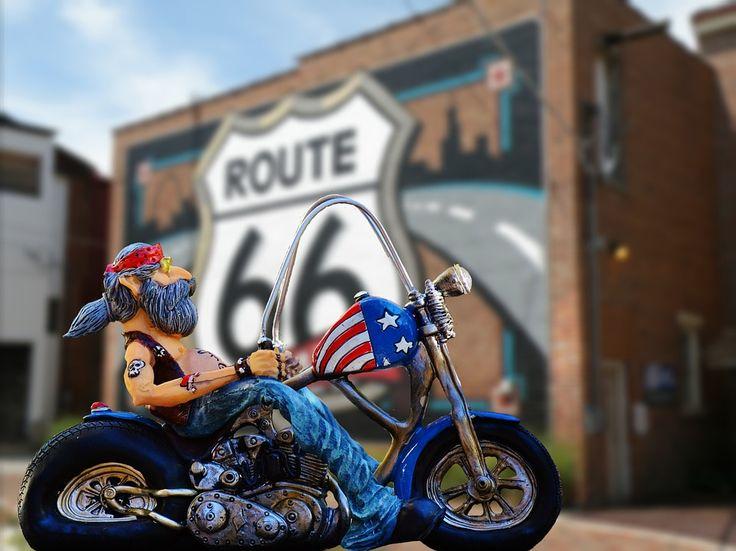 Rowerzysta, Route 66, Wolność, Usa, California