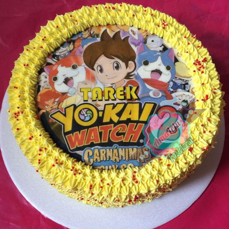 Torta Yokai Watch Realiza tu pedido por; WhatsApp: 3058556189, fijo 8374484  correo info@amaleju.com.co Síguenos en Twitter: @amaleju / Instagram: AmaLeju