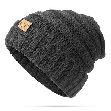 0152181a808 Women Men Warm Soft Knitting Bonnet Hats Winter Outdoor Snow Leisure Stripes  Beanies Casual Cap