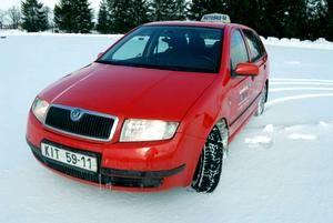 Škoda Fabia 1.4 MPI. I've driven this in driving school. It had LPG modification.