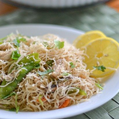 Pancit bihon is a popular Filipino noodles dish. This recipe is simple and has fewer ingredients, made with chicken and vegetables.