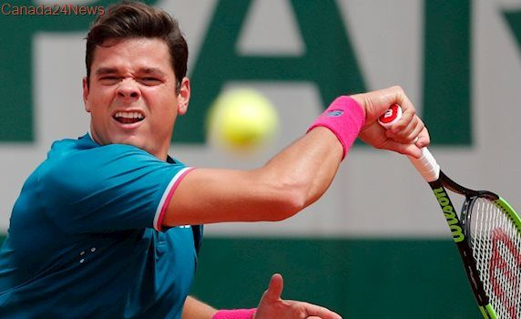 Error-prone Milos Raonic eliminated from French Open