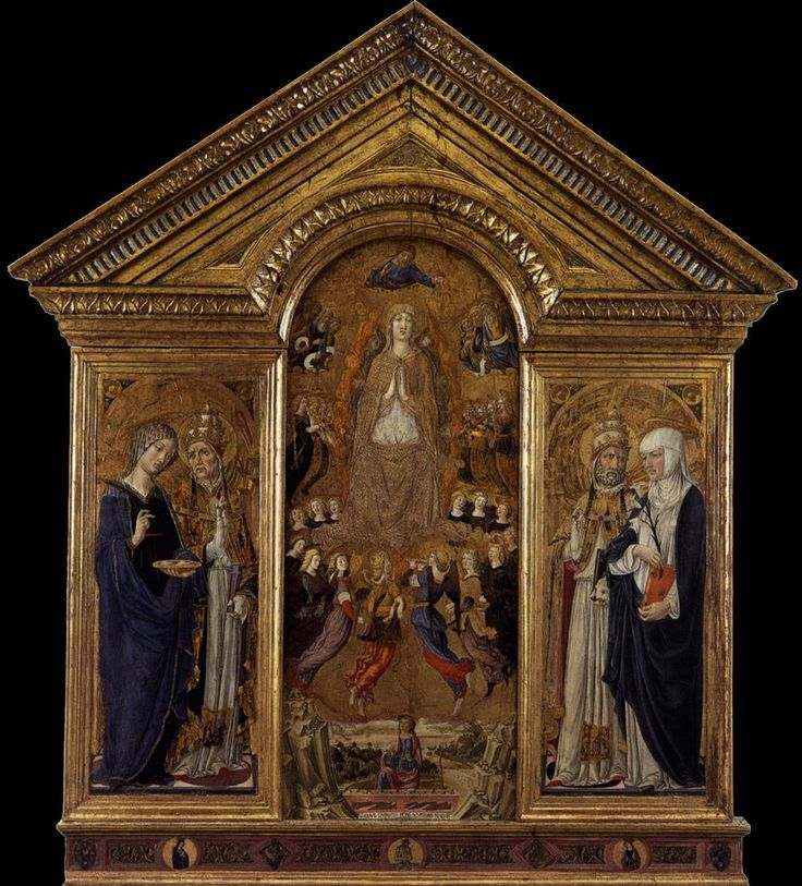 Веккьетта. Богоматерь Успения со святыми. 1462-63 гг. Собор, Пиенца.