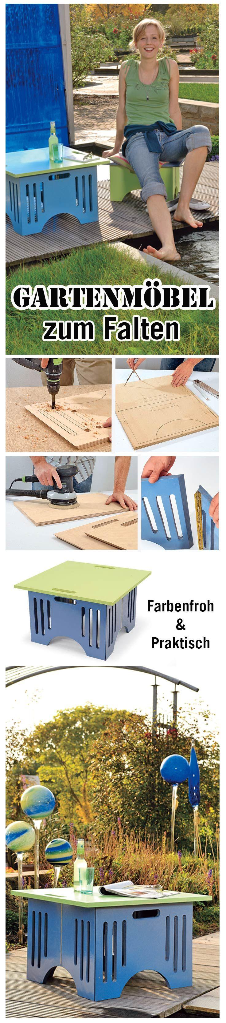 Klappmöbel mal anders: Tisch und Hocker kann man zusammenstecken. Extrem praktisch auch fürs Picknick. Wir zeigen, wie man die Möbel selbst baut.