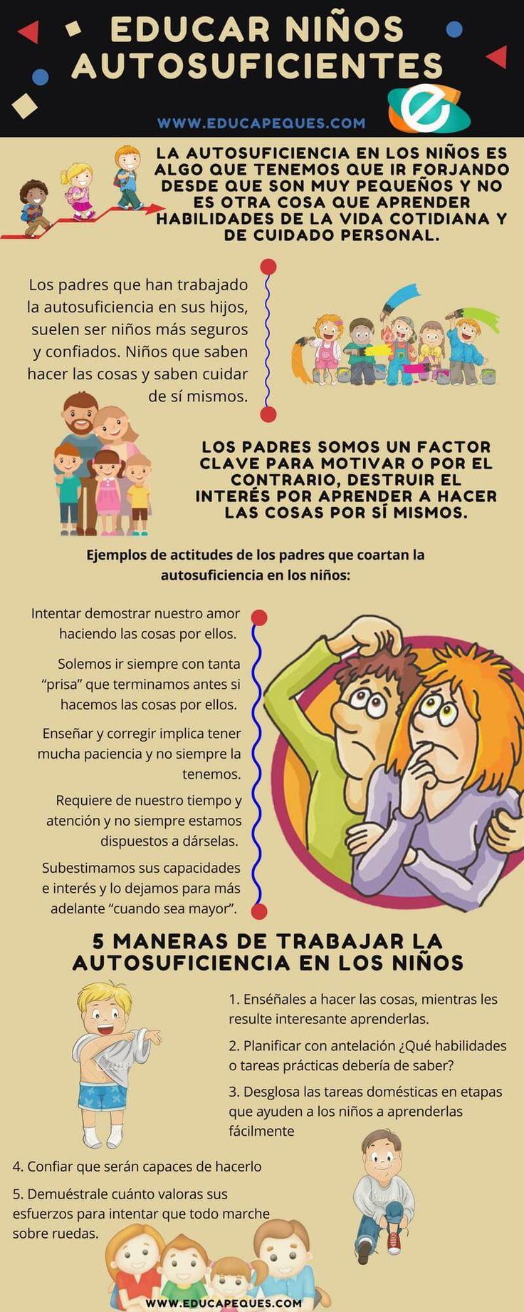 Cómo educar a niños autosuficientes, Katty nos deja 5 maneras de trabajar la autosuficiencia en los niños y evitar que sean tan dependientes de los padres