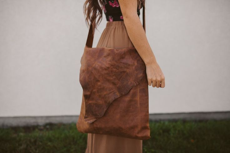 DIY – Leather cross body bag!  So cute and super easy to make!