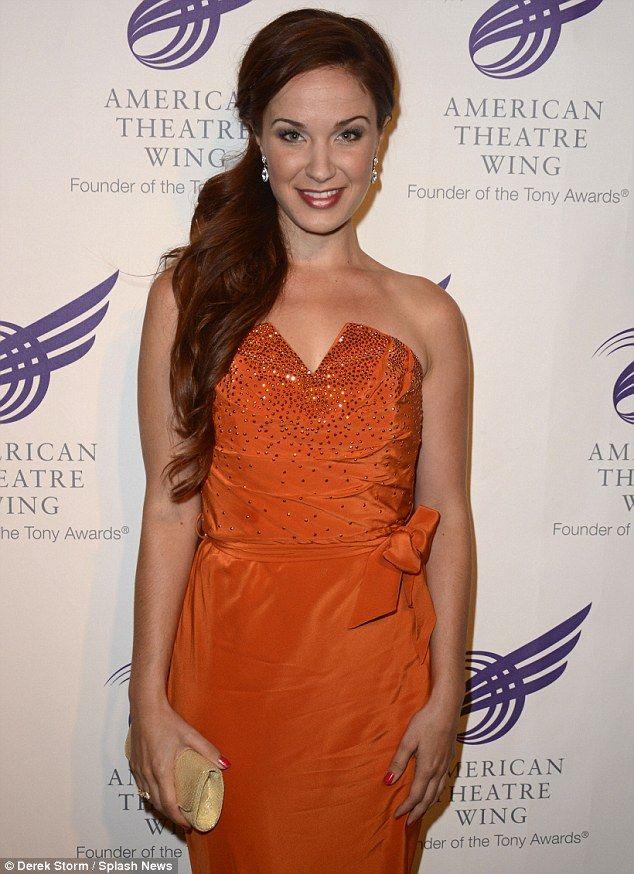 HAIR:  Broadway's leading lady: Sierra Boggess rocks her burnt orange strapless gown