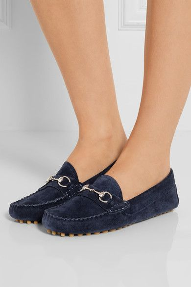 Navy suede Slip on Made in Italy