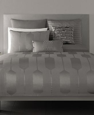 Hotel Collection Bedding.  Add plum accents-perfect.