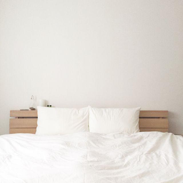 _____koz.さんの、ベッド周り,無印良品,ナチュラル,インテリア,収納,シンプル,シンプルライフ,整理整頓,ミニマリスト,のお部屋写真