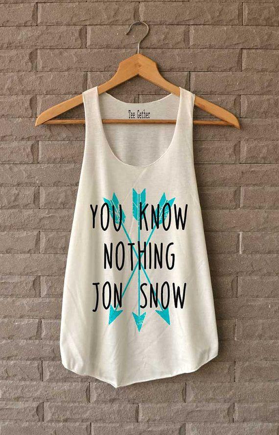 Je weet niets Jon Snow Shirt spel van troon Shirts Tank Top vrouwen maat S M L