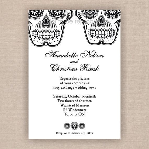 Sugar Skull Los Novios Day of the Dead Wedding by DistInkDesigns, $20.45