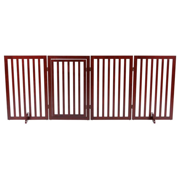 4 Part Convertible Wooden Dog Gate