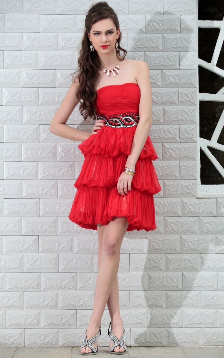 Glamorous red short prom dresses UK with Beaded - £81.90 :