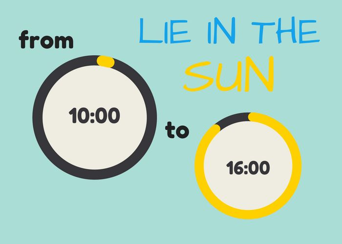 how to tan faster - sunbathe at the correct time