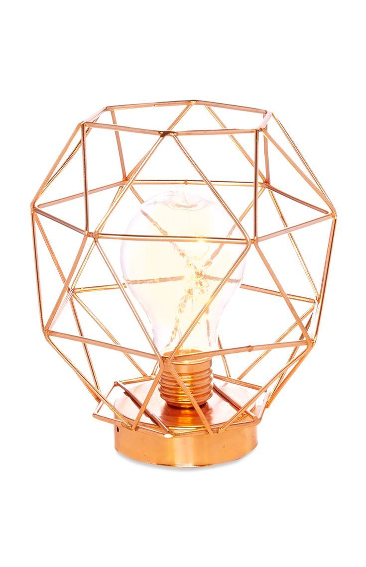 Copper Standing Frame Light - Primark 5£