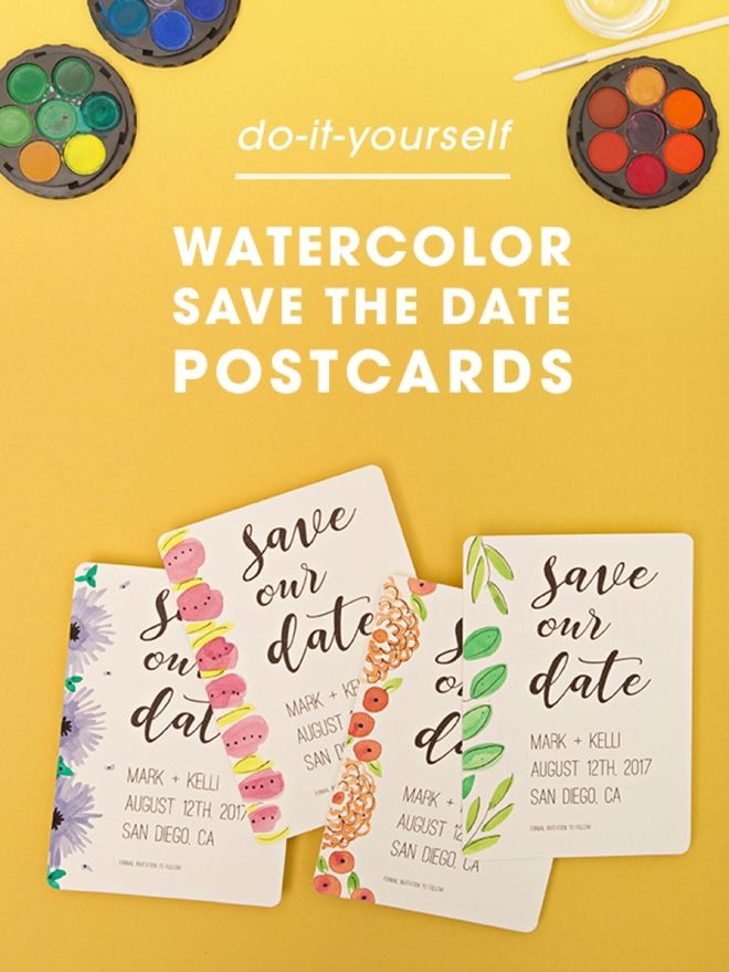 Check Out These Adorable FREE Printable Save the Date Postcards! #craftywithcanon