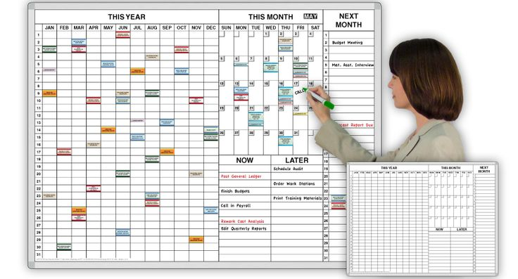 Year Calendar Dry Erase Board : Personal year ™ time task planner magnetic dry erase