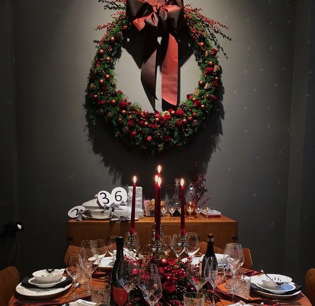 Christmas table by Royal Copenhagen