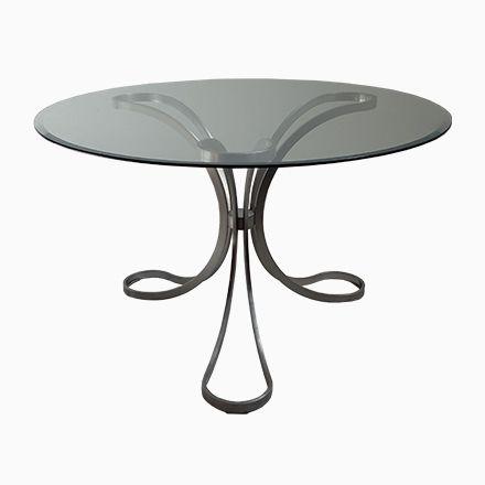 Nice Runder Glastisch mit Dreibein Fu er Jetzt bestellen unter https moebel