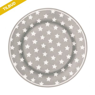 Frokost tallerken Star Warm Grey STW