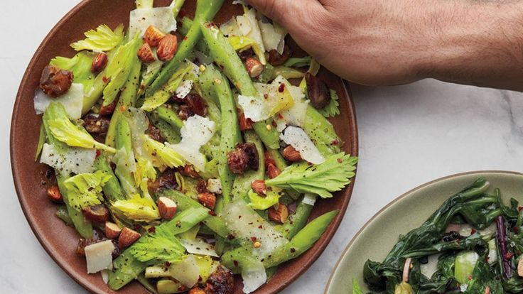 Sweet from dates, sour from lemon, bitter from celery, and salty from Parmesan, this humble salad manages to get all taste buds firing at once.