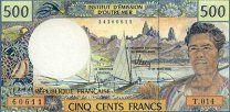 #Французские Территории Тихоокеанского региона банкнота 500 франков 1992 г. UNC - 800 р. #  Банкноты из пачки. Номера банкнот могут отличаться от представленных на фото.Французские колонии