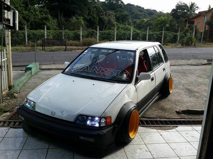 #Honda #Civic_Ef_Wagon #Slammed #Stance #Modified #JDM