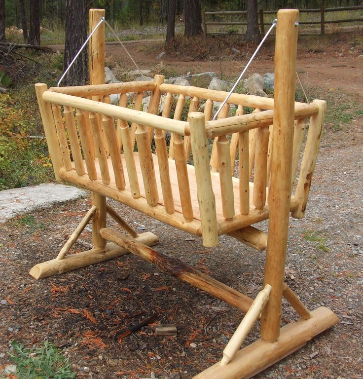 One Of Our Favorite Pieces Of Log Baby Furniture Is Our Rustic Log Cradle.  Parents Love Keeping This Cradle Next To Them At Night So They Can Keep A  Close ...