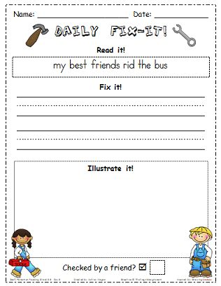 First Grade Brain: Scott Foresman Reading Street Daily Fix-Its for Grade 1
