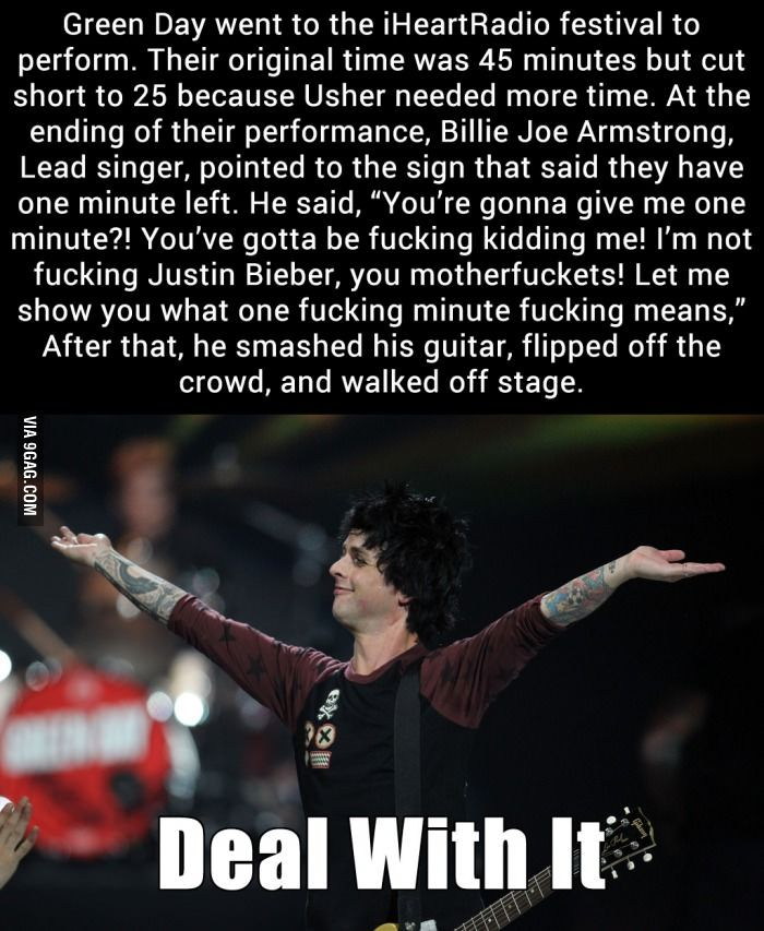 I'm glad he did it. Maybe if more punk bands did this there wouldn't be so much shit on the radio.