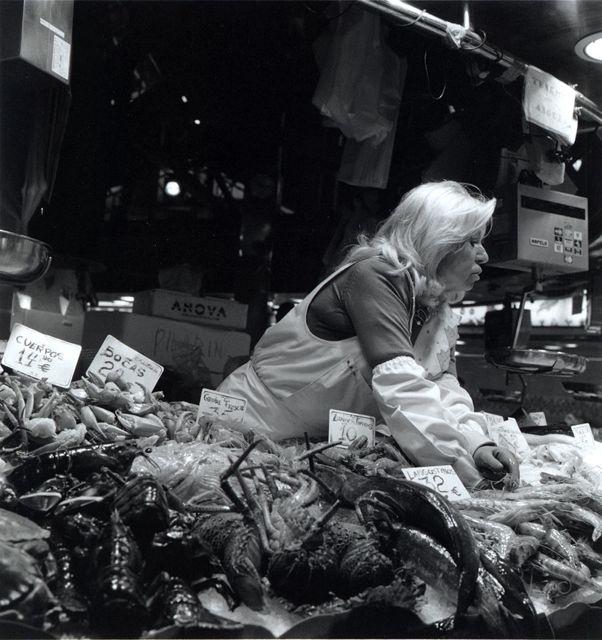 La Ramblas Fish Market in Barcelona by Keith Moss http://keithmoss.co.uk #street #film #ilford #fish #barcelona