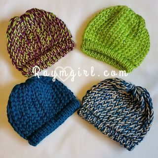 Loom Knit Slouchy Infant Hat Tutorial | Round Loom & Knifty Knitter | Raymgirl.com