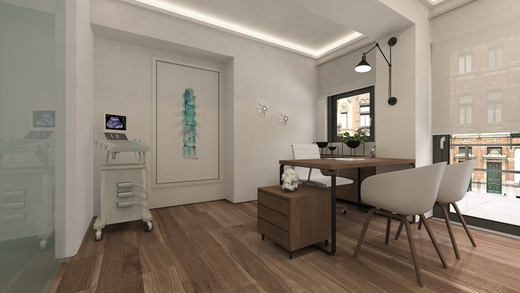 MEDX3 Three medical offices with shared waiting room were designed in the central Square of Acharnes (pathological, neurological and cardiological). Design Team: Margiolakis Evangelos, Petroula Christina Sepeta | 3d visualization: LOOM design – Terpsichori Latsi | Vertebrae Watercolor Print by LyonRoad #interior #design # medical #offices