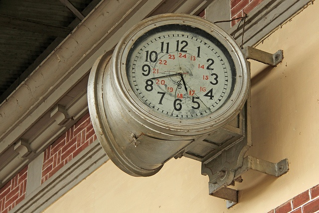 Old Railway Station clock. Railway Museum, Ambarawa, Central Java,,