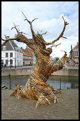 Tree sculpture in Amersfoort (NL) made by Thijs Trompert and Marisja Smit