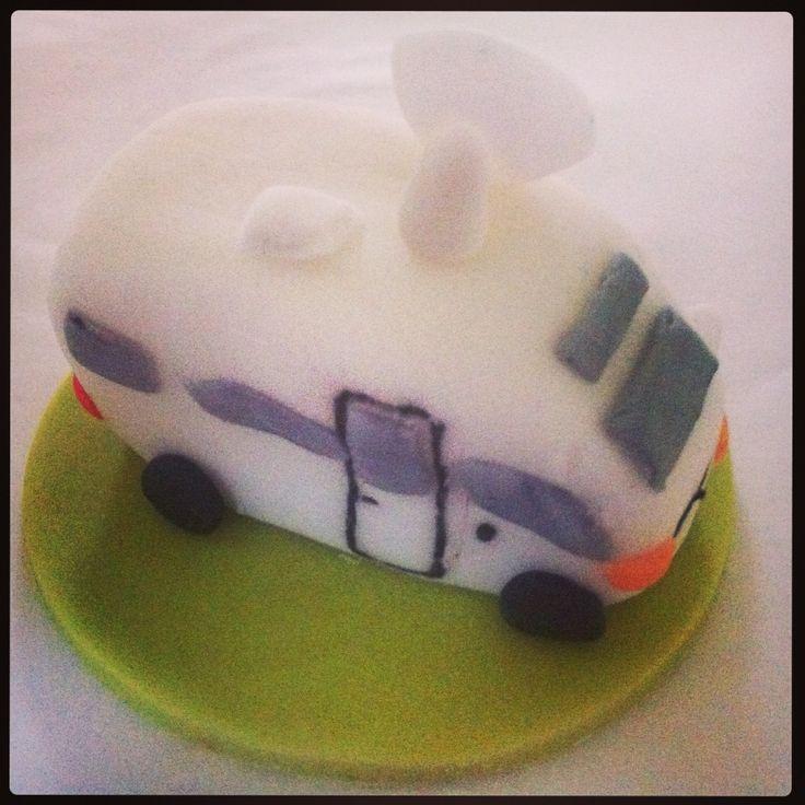 Motor home cupcake topper