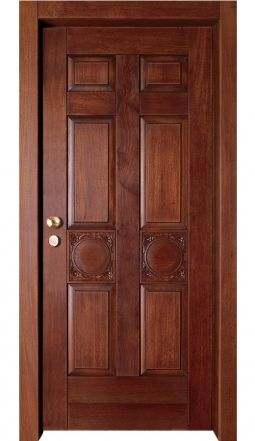 Design Napoli. Security Door made from a steel chassis, and a wooden (niagon) design panel