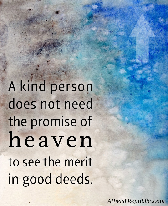 Kindness for the sake of being kind