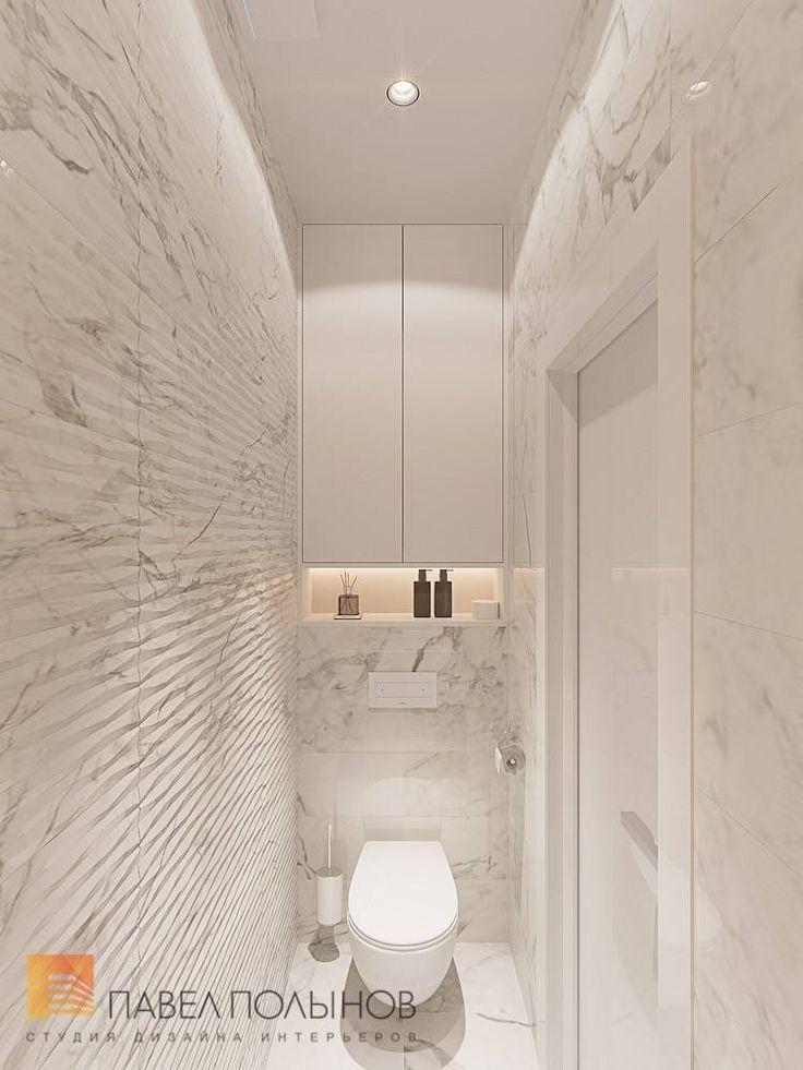 Фото интерьер санузла из проекта «Интерьер однокомнатной квартиры в современном стиле»