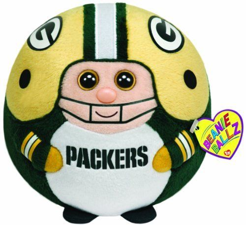 Ty Beanie Ballz Green Bay Packers - Medium by Ty Beanie Ballz. $10.99. From the Manufacturer                Beanie Ballz are a little wild and whacky, toss 'em and they always land on their feet. Ty's Sports Beanie Ballz are the best, collect them all.                                    Product Description                Ty Beanie Ballz are plush that have beans in their bottoms. You can throw and toss them around they always land on their feet. Officially licensed NFL me...