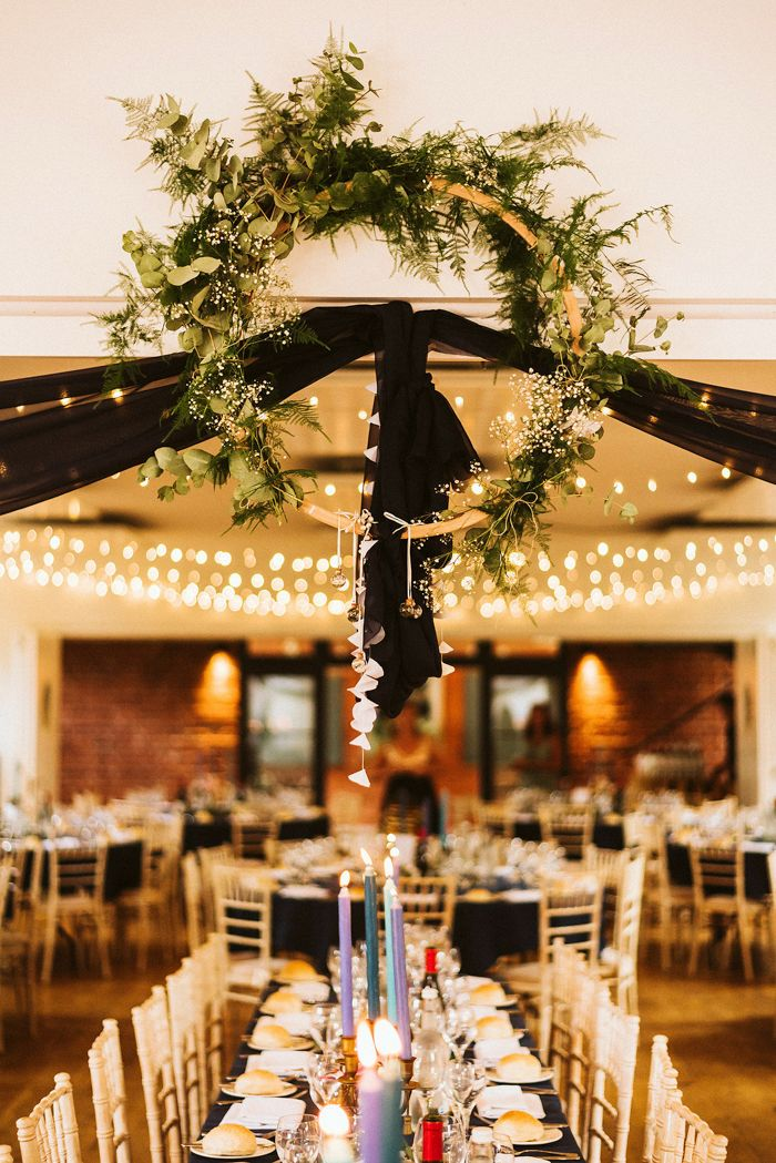 The Party Never Ends At This Burning Man Inspired Wedding On Osea Island Junebug Weddings Elegant Wedding Centerpiece Creative Wedding Centerpieces Beautiful Wedding Centerpiece