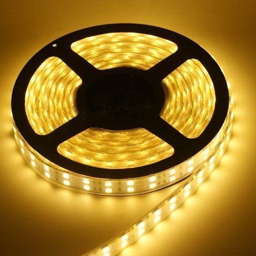 164ft 5m Waterproof Flexible 300leds Color Warm White Smd5050 LED Light Strip Kit with 12v Power Supply Ideal for Gardens Homes Kitchen Under Cabinet Aquariums Cars Bar DIY Party Decoration Lighting  Mood Light >>> Click image to review more details.