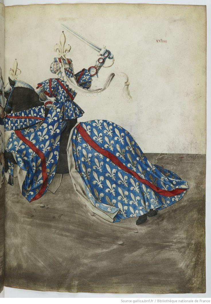 Traittié de la forme et devis comme on fait les tournoyz », par « RENE D'ANJOU    Date d'édition :  1401-1500   Français 2693   Folio 28r